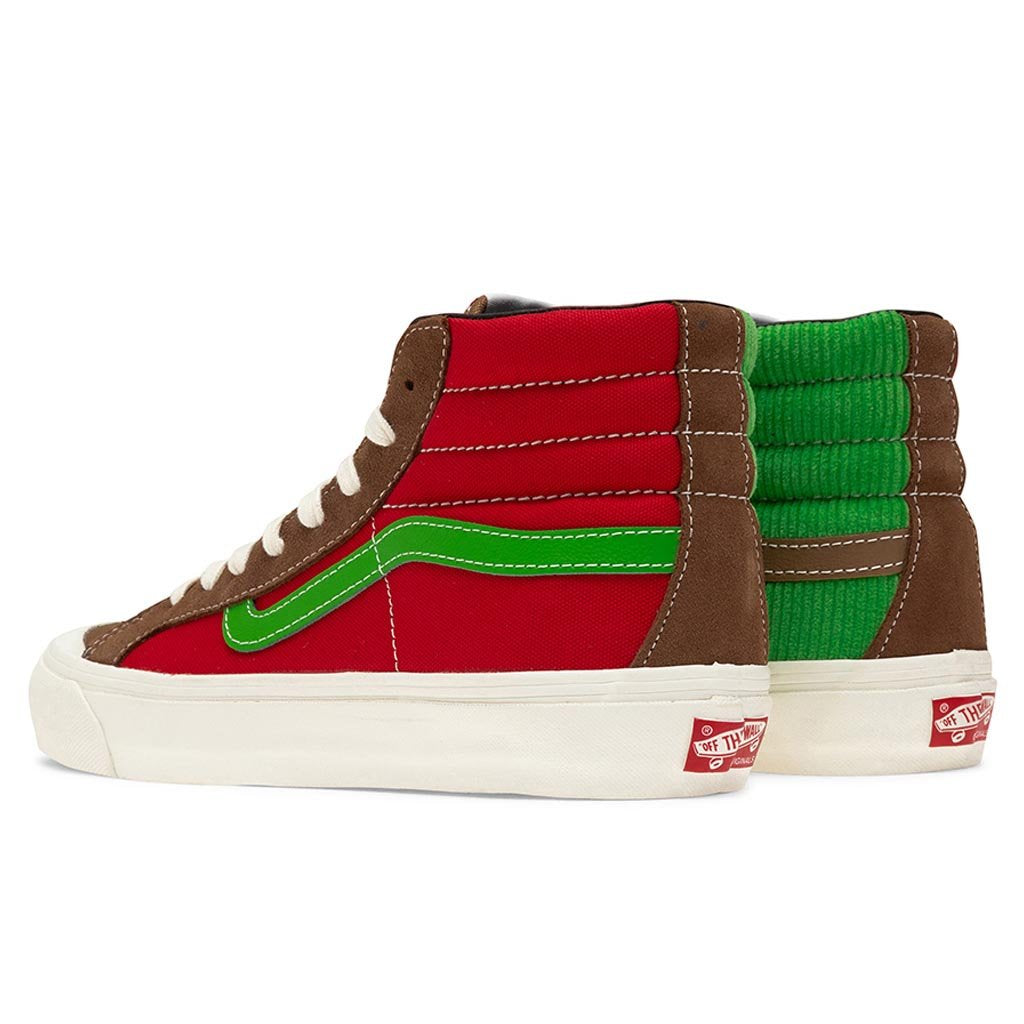 Vans Vault OG Style 138 LX - Rubber/Racing Red/Classic Green