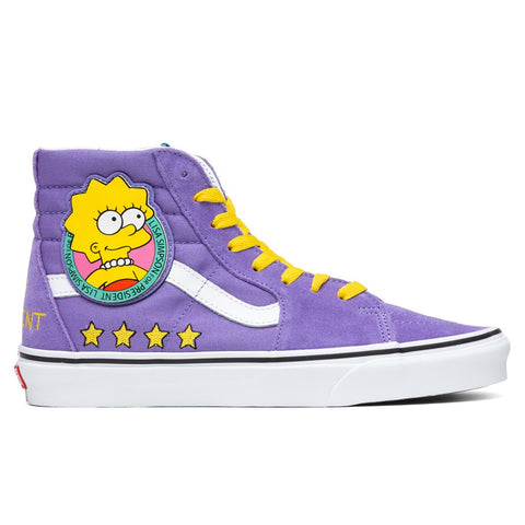 Vans x The Simpsons Sk8-Hi - Lisa 4 Prez