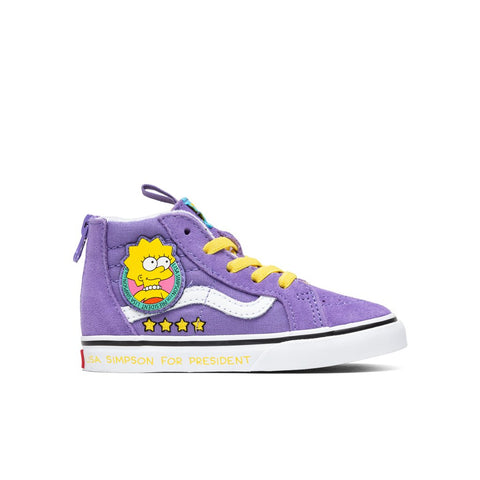 Vans x The Simpsons Toddler Sk8-Hi Zip - Lisa 4 Prez