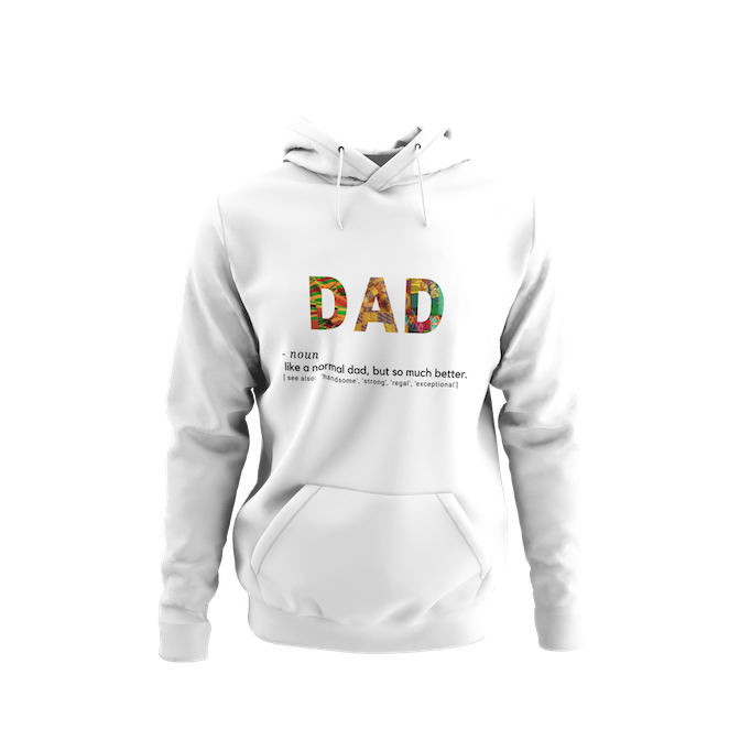 Dad Definition Kente Print Sweatshirt