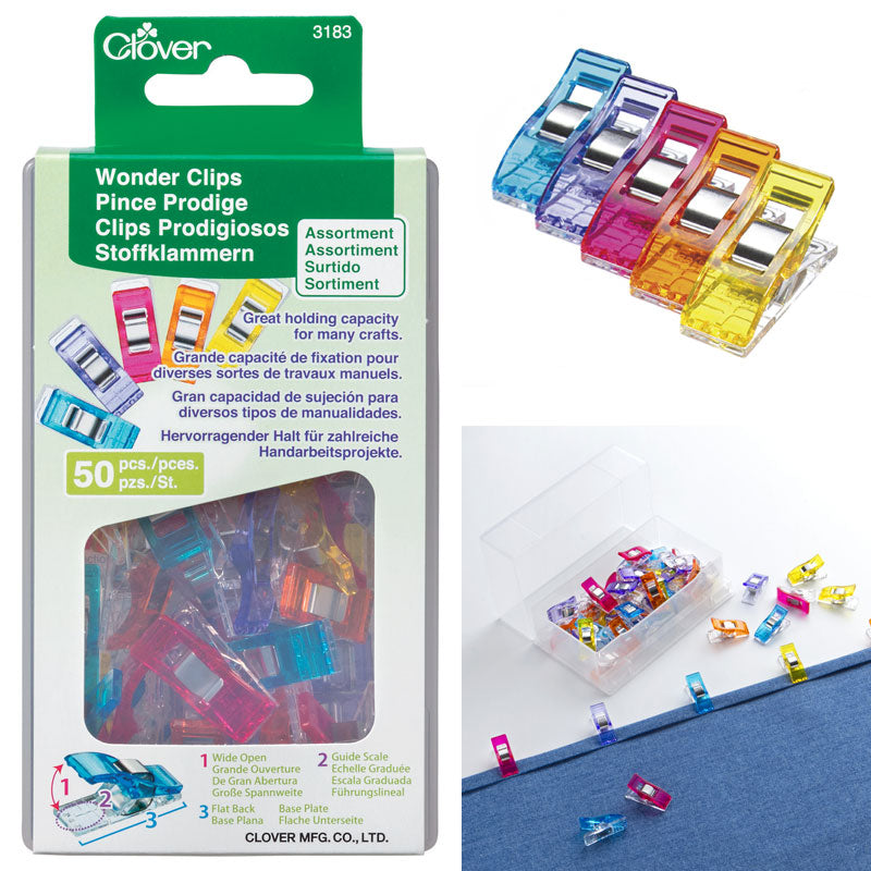 Wonder Clips Assorted Colors by Clover 50ct