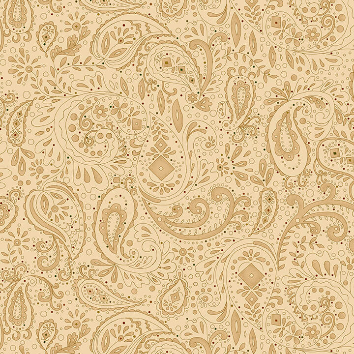 108in Spiced Paisley Wide Quilt Back - Beige