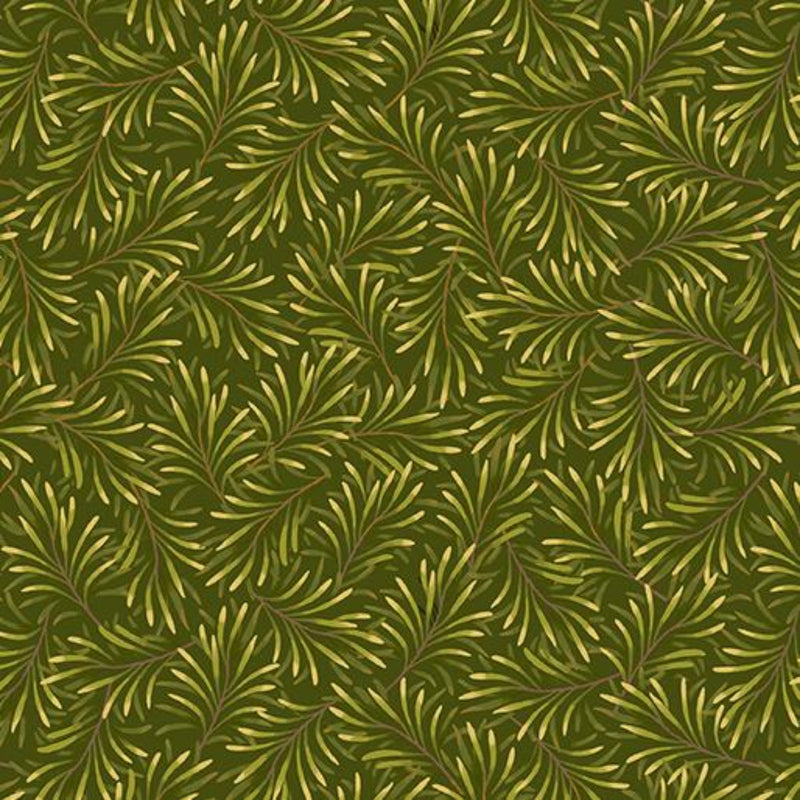 "108"" Boughs of Beauty Wide Quilt Back - Medium Green"