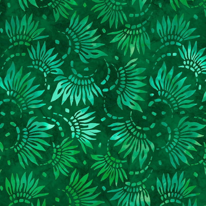 108in Petals Essential Wide Quilt Back - Green