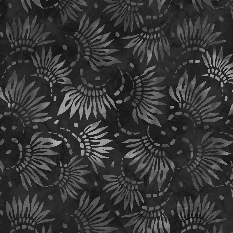 108in Petals Essential Wide Quilt Back - Charcoal