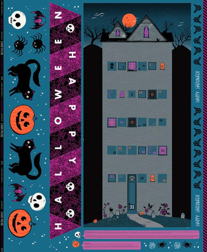 "57.5"" x 75.75"" Candy Please Halloween Project Panel by Sarah Watts of Ruby Star Society"