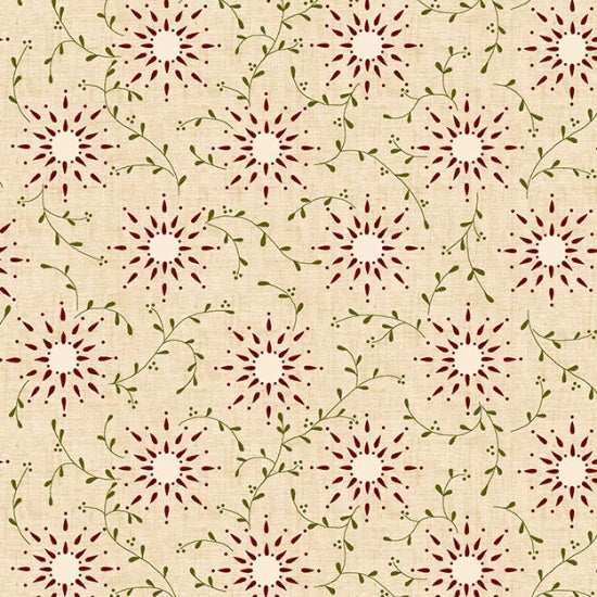 108in Prairie Vine Vintage Farmhouse Wide Quilt Back - Cream