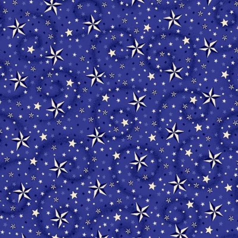 "108"" American Dreams Wide Quilt Back - Blue"