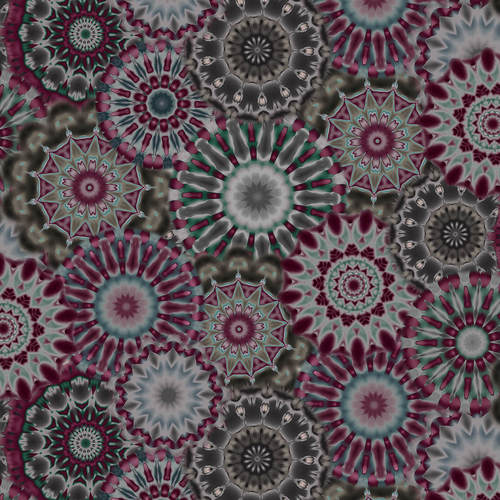 "108"" Radiance Kaleidoscope Wide Quilt Back - Charcoal"