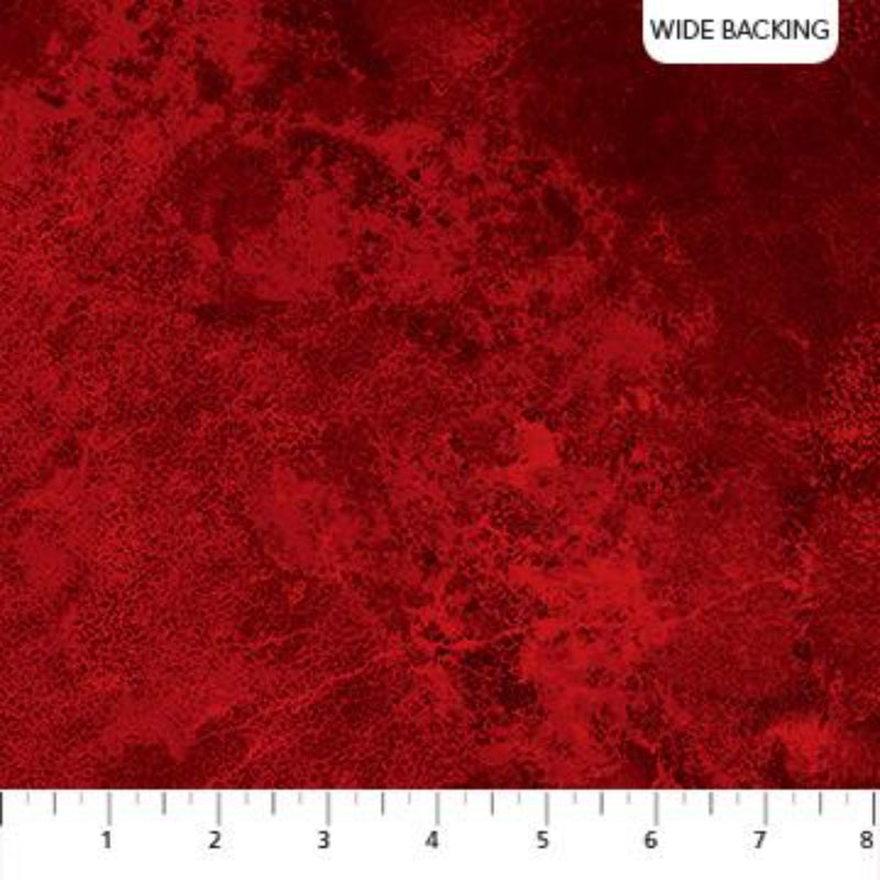 "106""/108"" Stonehenge Wide Quilt Back - Red"