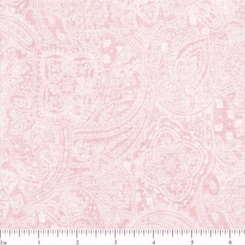 108in Subtle Paisley Wide Quilt Back - Light Pink