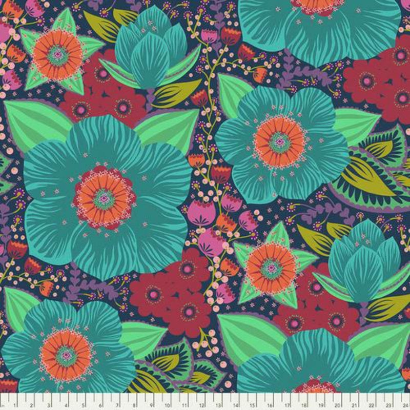 108in Hindsight Honorable Mention Wide Quilt Back - Turquoise