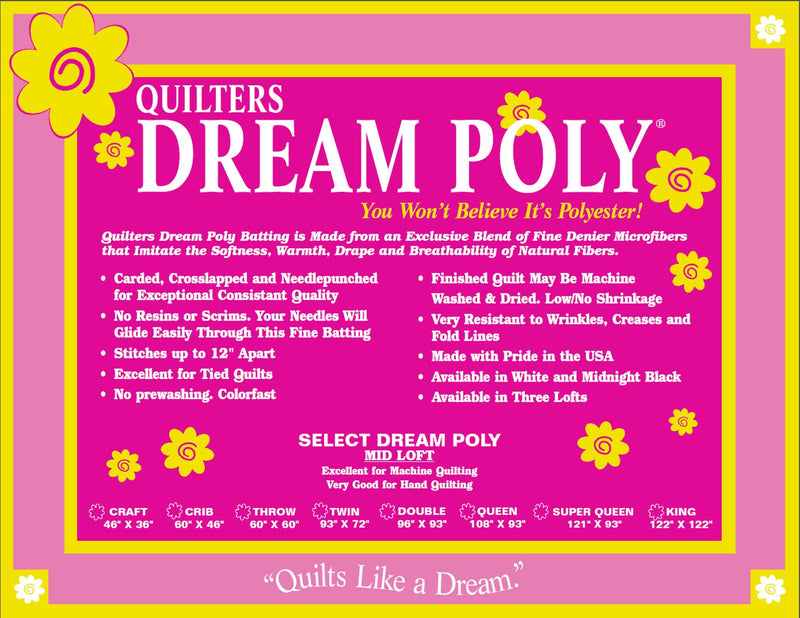 Quilters Dream Poly Batting Select Loft