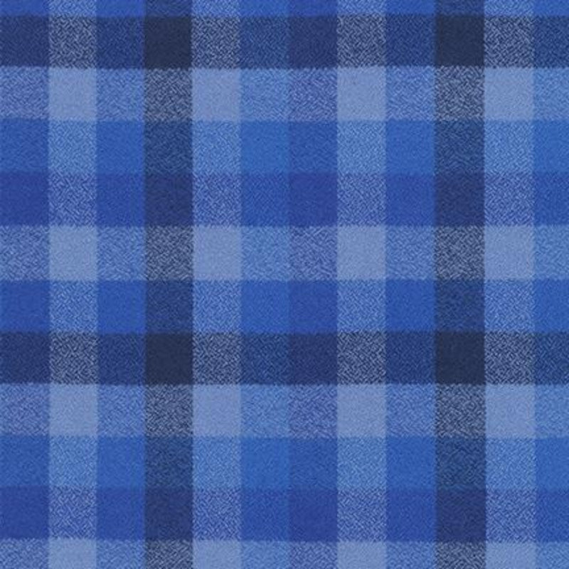 "59"" Mammoth Flannel Wide Quilt Back Royal"