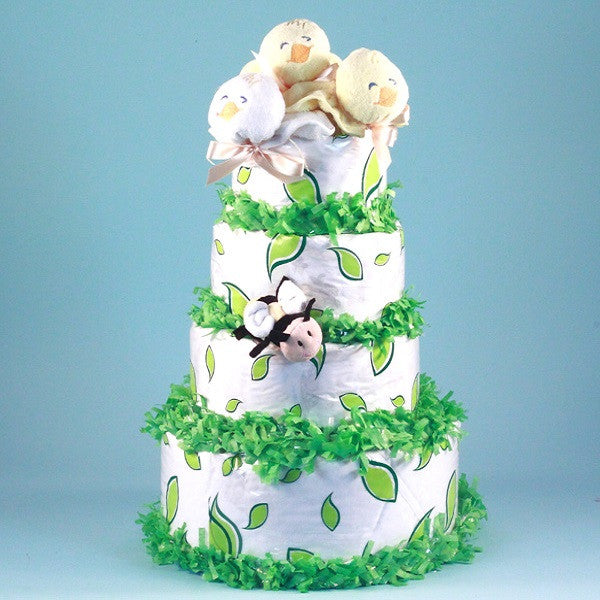 Birds and Bees Diaper Cake
