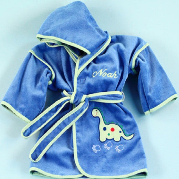 Big Brother Dinosaur Hooded Robe - Welcoming Home Baby