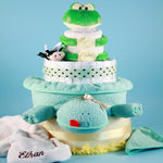 Friendly Frog Diaper Cake - Welcoming Home Baby  - 1