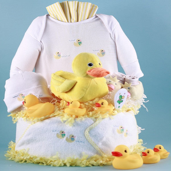 Just Ducky Layette Diaper Cake - Welcoming Home Baby