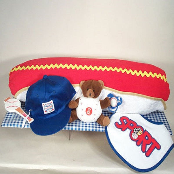 Hot Dog Layette | Unique Looking Baby Gift Set - Welcoming Home Baby  - 1