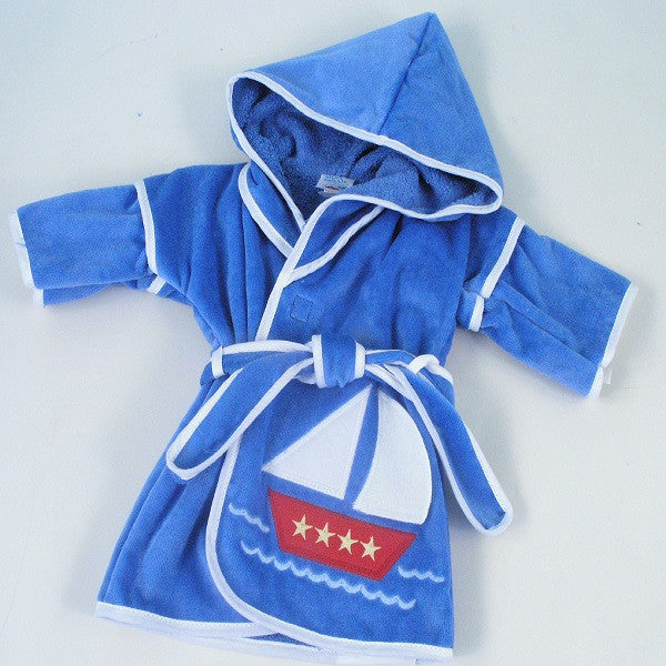 Sailboat Hooded Robe - Welcoming Home Baby