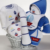 Sailboats or Slippers Baby Basket - Welcoming Home Baby  - 1