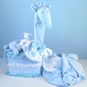 Gentle Giraffe Diaper Cake - Welcoming Home Baby  - 2