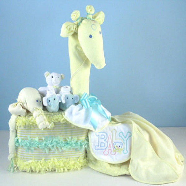 Gentle Giraffe Diaper Cake - Welcoming Home Baby  - 1