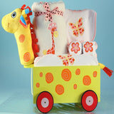 Giraffe Wagon Pull-Toy - Welcoming Home Baby  - 2
