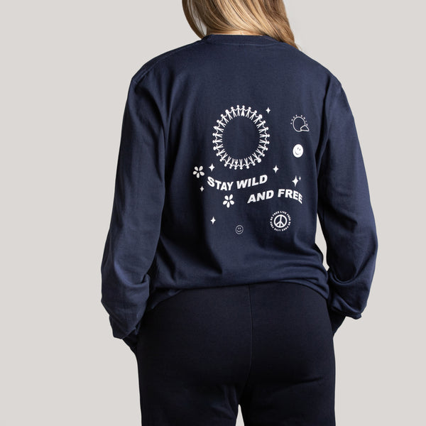 Grown ups Long Sleeve Wild and Free