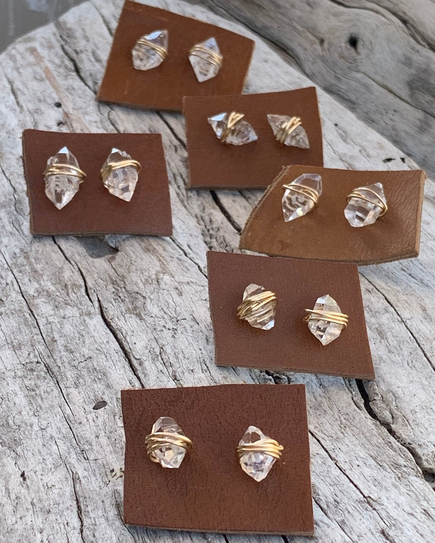 Gold Fill Herkimer Stud Earrings