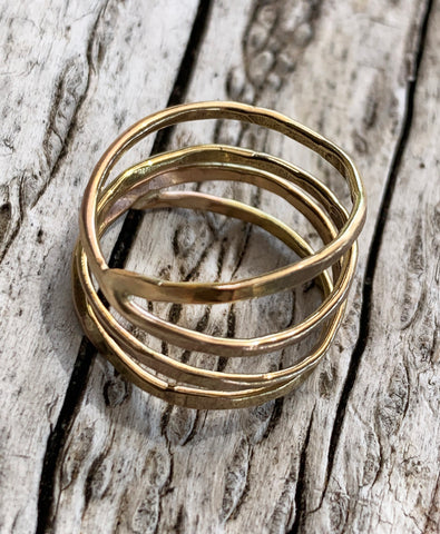 Gold fill Twig Wrap Rings