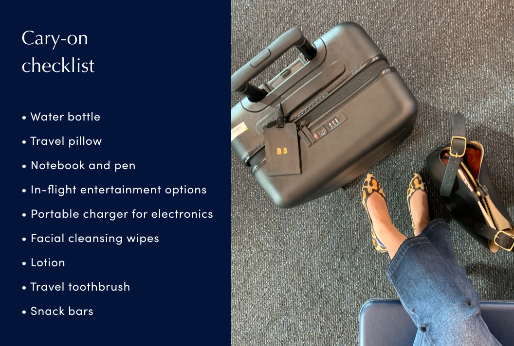 A carry-on luggage checklist
