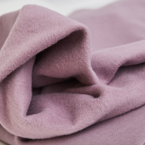 Mind the Maker Organic Basic Brushed Sweat- Lilac-$38.00/metre