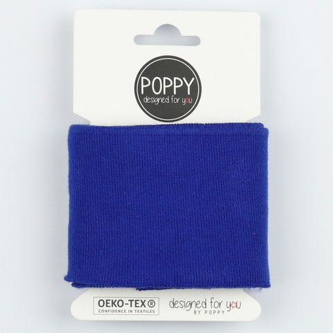 Rib Cuffs  - Cobalt by Poppy Designed for you