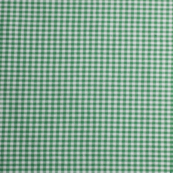 Cotton Checks - white/green -25cm