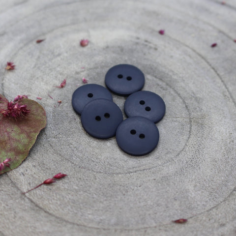 Atelier Brunette Matt Buttons-Midnight- 15mm