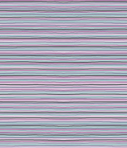Stof Cotton Jersey Green/Pink/Purple Stripes