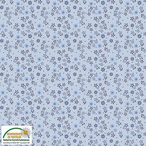 Stof Avalana Flowers & Dots Viscose-$38.00/metre