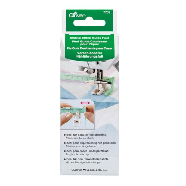 CLOVER SLIDING STITCH GUIDE FOOT