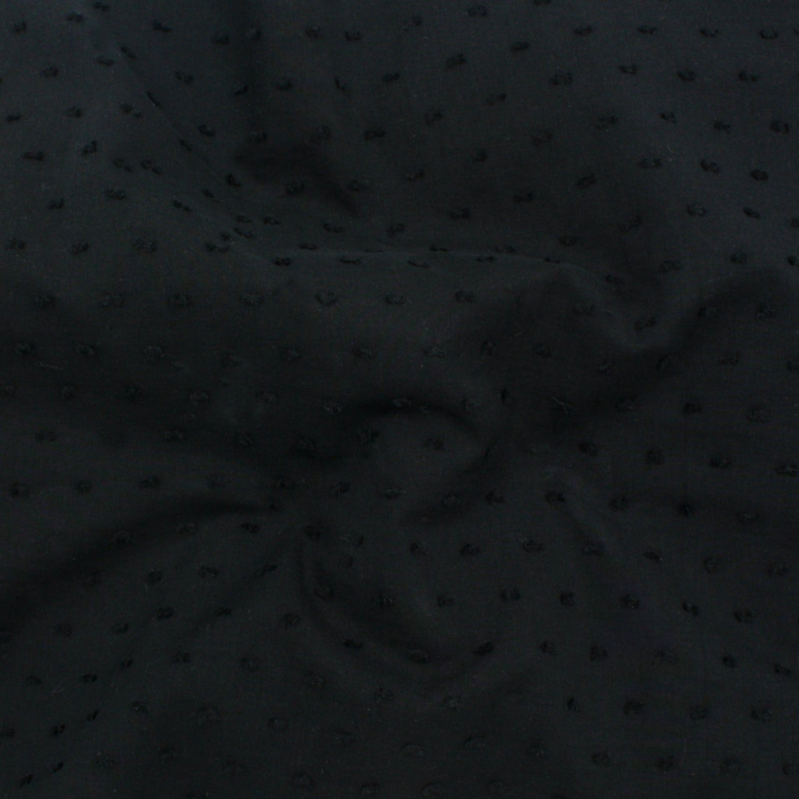Cotton Dobby - Black -$16.00/metre