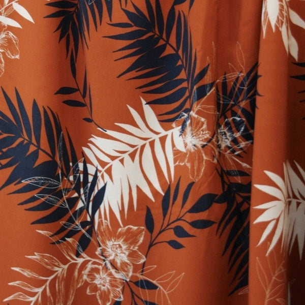 Viscose Leaves- Chestnut -$38.00/metre