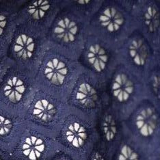 Embroidery Anglaise- Navy Blue