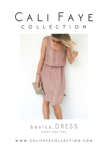 Basics . Dress . PRINTED