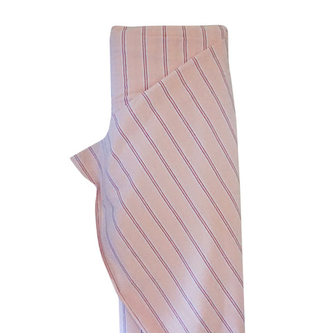 Gots Cotton Jersey Stripe - Rose  - $30.00/metre