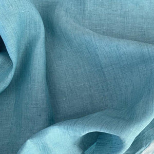 Blue Lagoon Washed Linen - $28.00/metre
