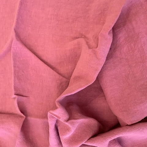 Antique Washed Linen -Pink - $29.00/metre