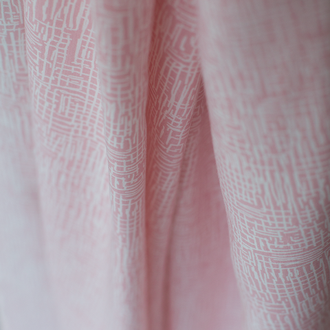 See You at Six - Viscose - Lines - Pink - $36.00/metre