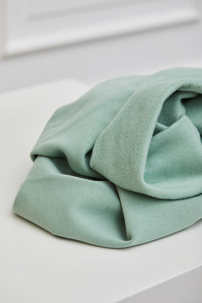 Mind the Maker Organic Basic Brushed Sweat- Sage-$38.00/metre