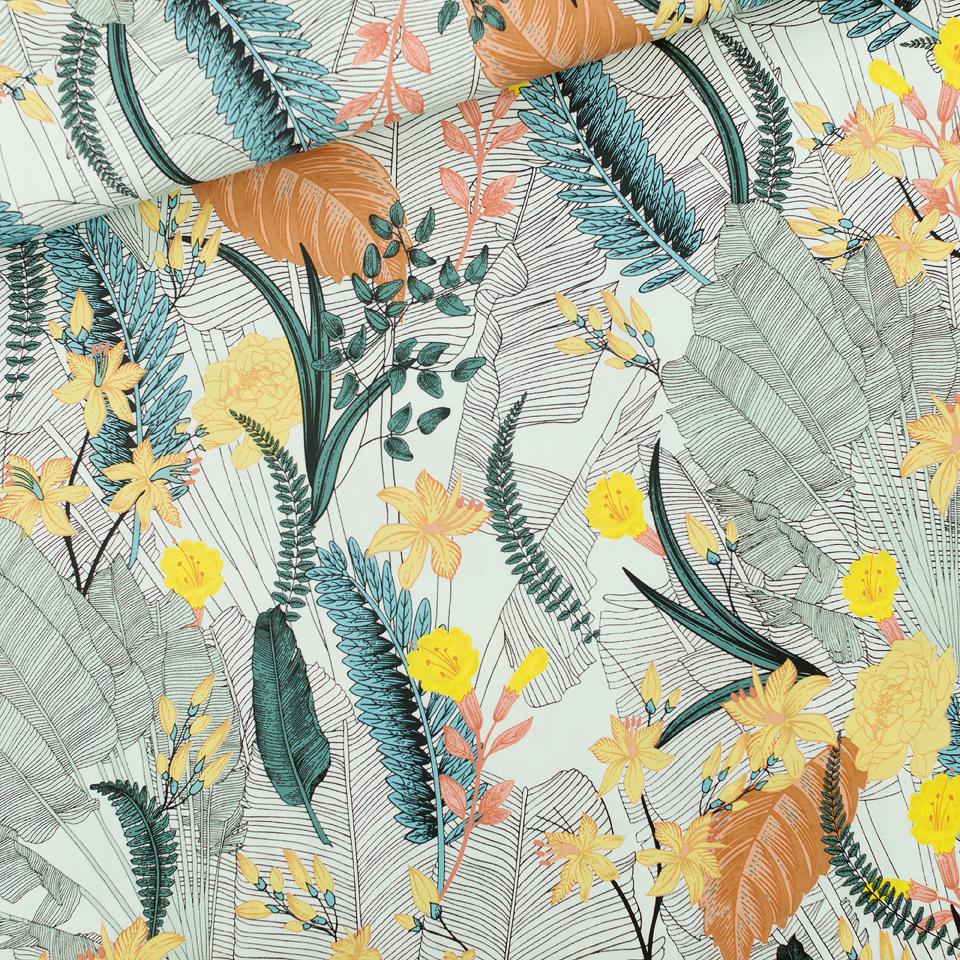See You at Six- Tropic Flowers -Viscose -1.1m $30.00