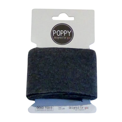 Rib Cuffs  - Dark Grey Melange by Poppy Designed for you